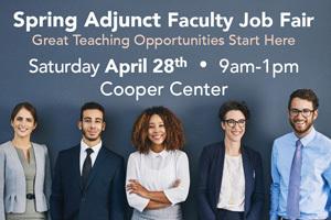 Spring Adjunct Faculty Fair - April 28 - Pecan Campus Cooper Center