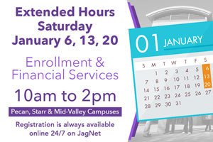Extended Hours available - Saturdays in January