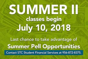 Summer Sessions Begin June 4 - Take advantage of Summer Pell